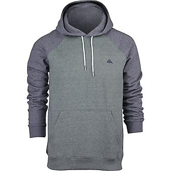Quiksilver Mens Everyday Pullover Hoodie - Heather Green/Heather Navy