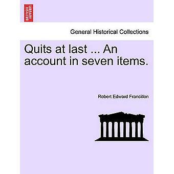 Afsluttes til sidst... En konto i syv punkter. af Francillon & Robert Edward