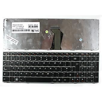 Lenovo 25-010792 Grey Frame Black UK Layout Replacement Laptop Keyboard