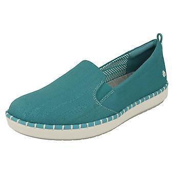 Ladies Sky Stepmaskiner av Clarks dagdriver stilen sko trinn glød Slip