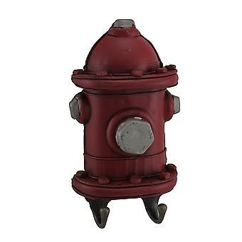Red Fire Hydrant Leash Hanger Wall Hook