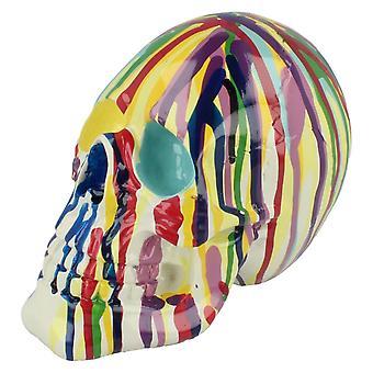 Lesser & Pavey Decorative Multicoloured Skull LP29741