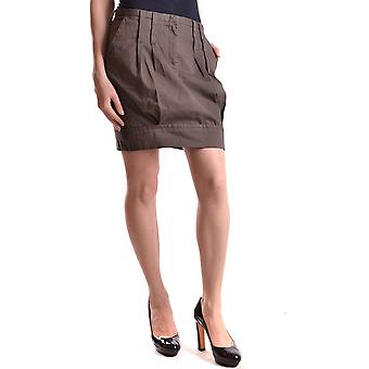 Isola Marras Ezbc255003 Women's Brown Cotton Skirt