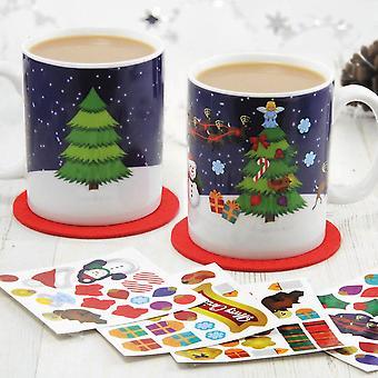 Crear una taza de escena de Navidad