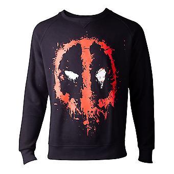 Deadpool genser dryppende Face menns genser svart XX-Large (SW000014DEA-2XL)