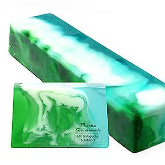Florex sabonete artesanal de glicerina-hortelã-com leite de ovelha orgânica aroma fresco 90 g