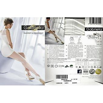 Gabriella Hosiery Charme 02 Bridal Patterned Tights 20 Den