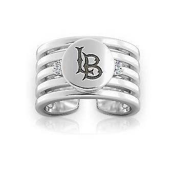 California State U-Long Beach Diamond Ring i sterling sølv design af BIXLER