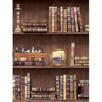 Boekenkast behang