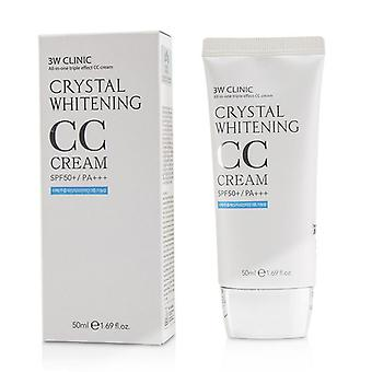 3W clínica Crystal Whitening CC Cream SPF 50 +/PA + + +-#02 bege natural-50ml/1.69 oz