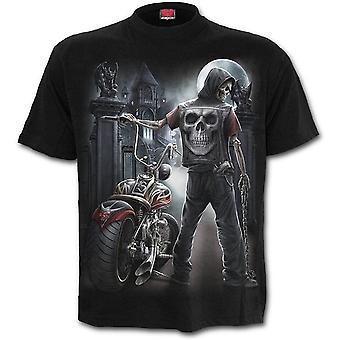 Spiraal-Night Church-mannen shirt mouw t-shirt, zwart