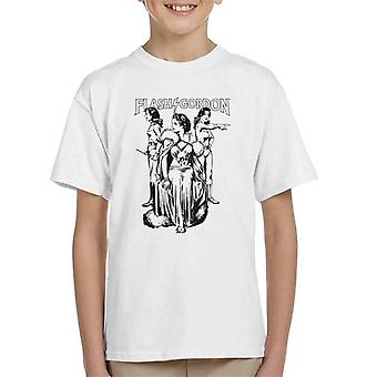 Flash Gordon Dale Trio Kid's T-Shirt