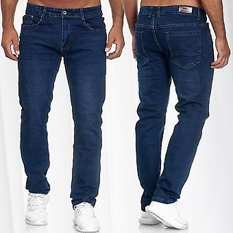 Herren's Jeans Regular Fit Giani5 Hose Denim Stretch Oversize W34 - W46 Blau