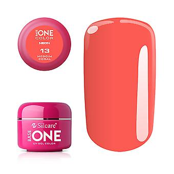 Base one-Neon-Medium Coral 5g UV Gel