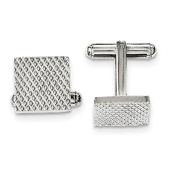 Stainless Steel Polished Textured Cuff Links Jewelry Gifts for Men