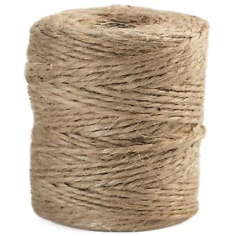 120m Natural Brown 6 Ply Jute Thread for Macrame or Dreamcatcher Crafts