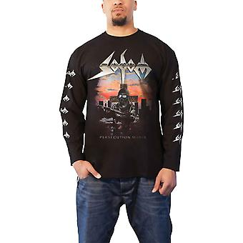 Sodom T Shirt Persecution Mania Band Logo new Official Mens Black Long Sleeve