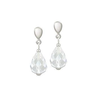 Eeuwige collectie verfijning duidelijke Crystal Silver Tone drop clip op oorbellen