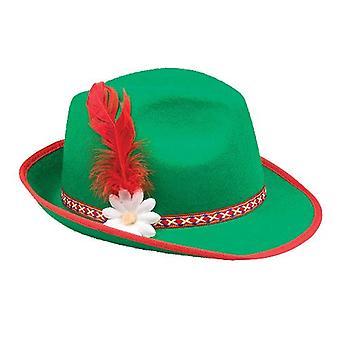 Cappello in feltro verde oktoberfest bavarese