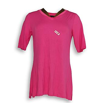H بواسطة هالستون المرأة & ق أساسيات الأعلى V-الرقبة سترة الوردي A353391