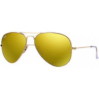 Ray-Ban Aviator Large Flash Golden Mat Yellow Miroité