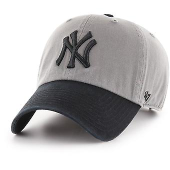 47 Brand Adjustable Cap - CLEAN UP New York Yankees Grey