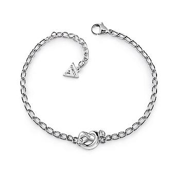 Guess Jewellery Mini Chain Knot Silver Bracelet UBB29018-L