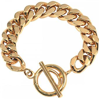 Nikki Lissoni Large Curb Link Gold Plated Chain Bracelet