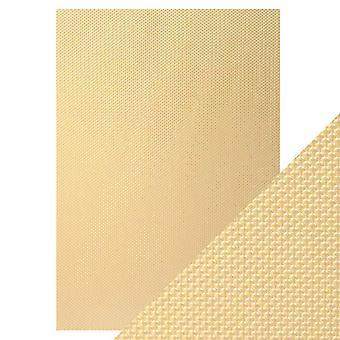 Tonic Studios hantverk perfekt A4 lyx präglade kort, gyllene mosaik, 30 x 21,5 x 0,5 cm