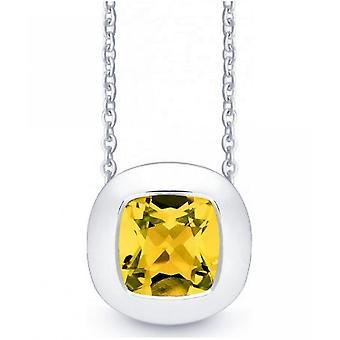 QUINN - Halskette - Damen - Silber 925 - Edelstein - Citrin - 27250911
