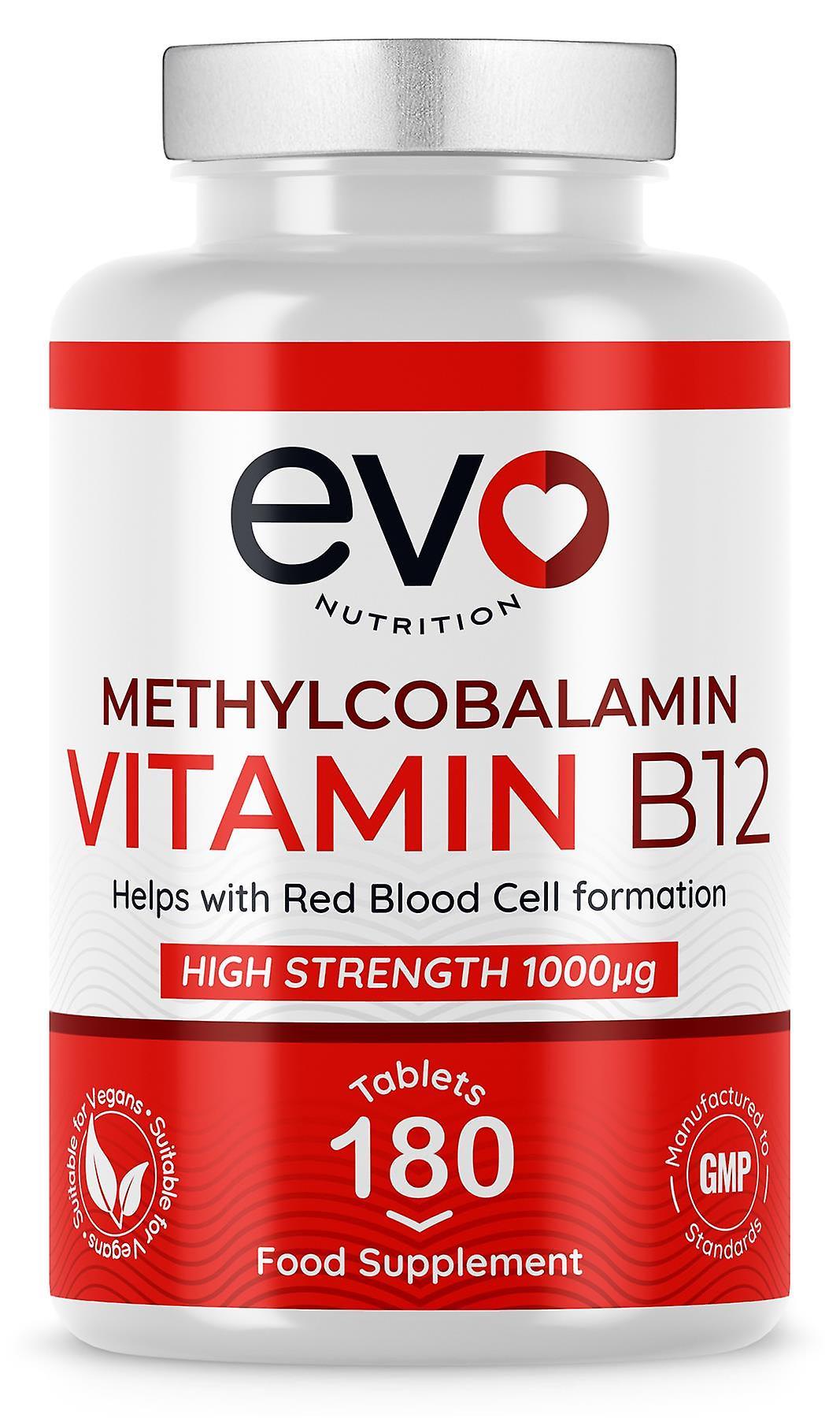 Vitamin B-12 Methycobalamin (180 Tablets) 1000mcg - Evo Nutrition