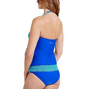 Zoggs Womens Fairhaven Maternidade Piscina Swim Pool Swimsuit Costume - Azul / Aqua