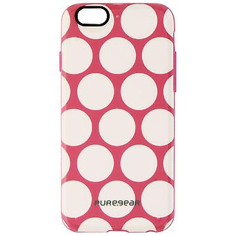 PureGear Motif Series Case for iPhone 6/6s - Pink/White Dot