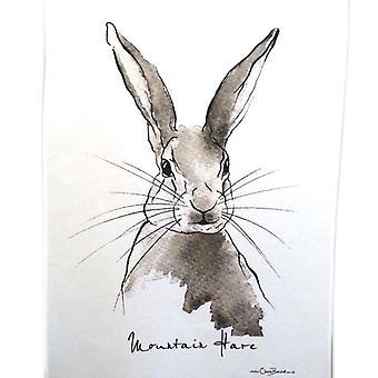 Clare Baird Highland collectie-berg Hare theedoek