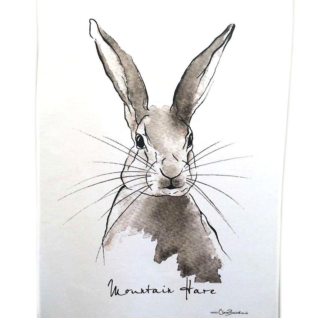 Clare Baird Highland Collection - Mountain Hare Tea Towel