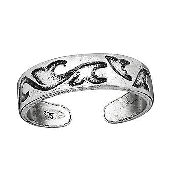 Wave - 925 Sterling Silver Toe Rings - W38967X