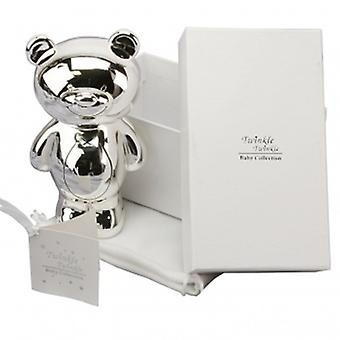 Twinkle Twinkle Silver Teddy Money Box | Gifts From Handpicked