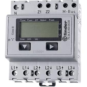 Finder 7E.56.8.400.0030 Electricity meter (3-phase) incl. converter jack Digital 5 A MID-approved: Yes 1 pc(s)