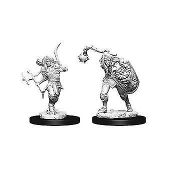Pathfinder Battles Deep Cuts Unpainted Miniatures Male Elf Fighter (Pack of 6)