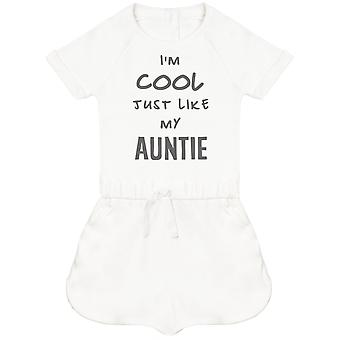 I'm Cool Just Like My Auntie Baby Playsuit