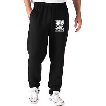 Pantaloni tuta nero gen0187 im a proud son