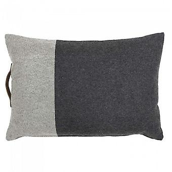 Riva Home Bloc Two Toned Cushion Cover With Leather Handle