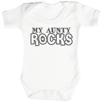 My Aunty Rocks Baby Bodysuit / Babygrow White