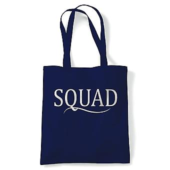 Squad Tote | Happy Birthday Celebration Party Getting Older | Reusable Shopping Cotton Canvas Long Handled Natural Shopper Eco-Friendly Fashion