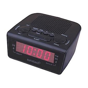 Clock-Radio Sunstech FRD18BK Noir