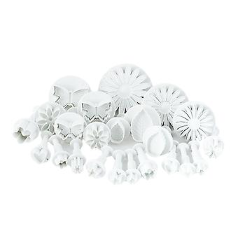 23 Pieces Cake/Cookie Decorating Sugarcraft Cutters & Plungers - Flower Leaf Shapes