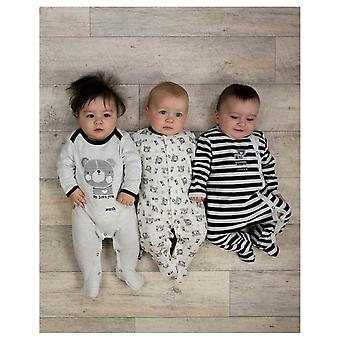 The Essential One Baby Boys Beary Much Sleepsuits - 3 Pack