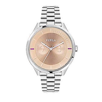 Relógio de quartzo FURLA clássico feminino analógico com banda de aço inoxidável R4253102505