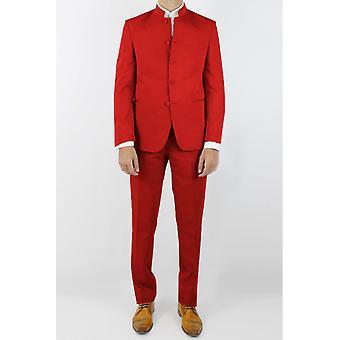 Mao collar suit curved cut