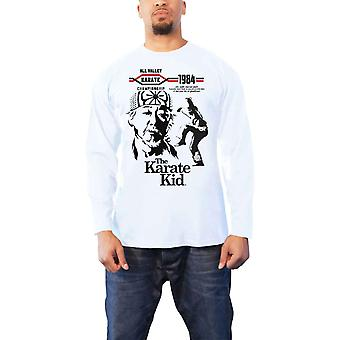 Karate Kid T Shirt All Valley Karate 1984 new Official Mens White Long Sleeve